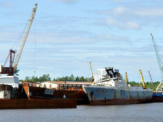При строительстве приморской судоверфи