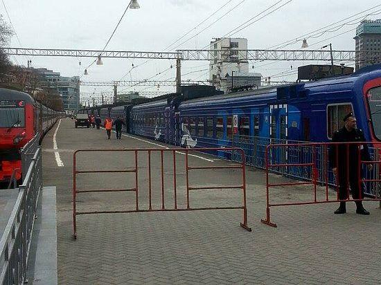 Людей в поезде не было, поэтому обошлось без пострадавших