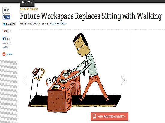 Итальянский архитектор знает, как вредную сидячую работу превратить в ходячую