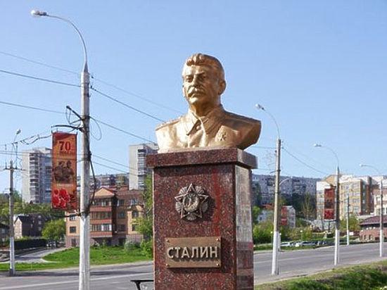 Памятник Сталину установили в Липецке перед 9 мая