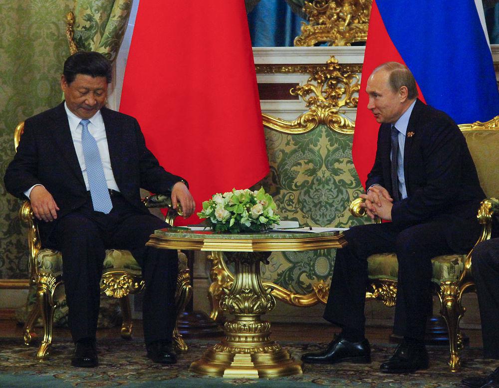 Встреча Владимира Путина и председателя КНР Си Цзиньпина