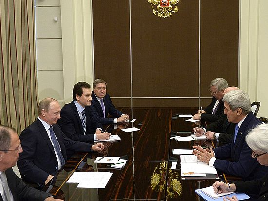 Путин и Керри обсудили пять условий Обамы по Украине