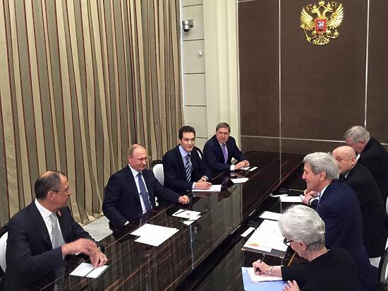 На встрече Путина и Керри выключили звук
