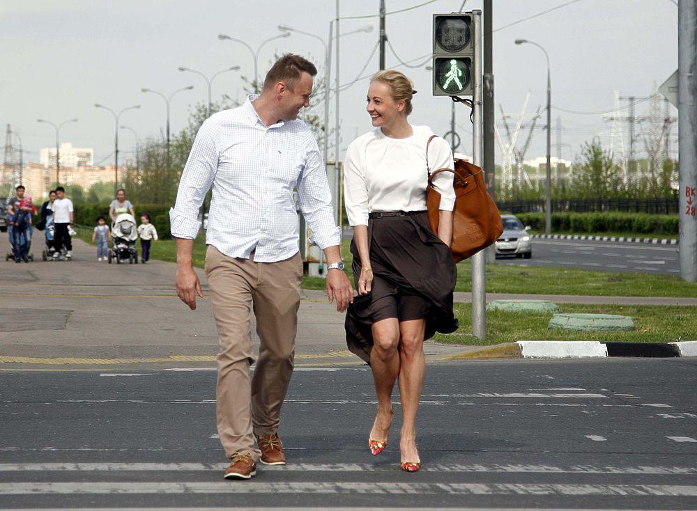 Навальный по дороге на заседание суда