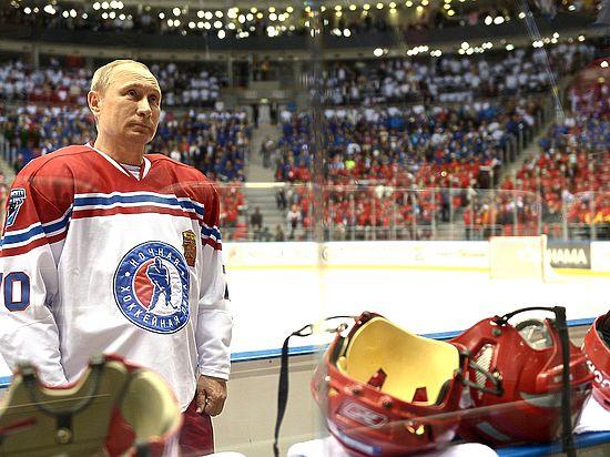 Хоккейный матч в Сочи превратился в гимн игроку Путину