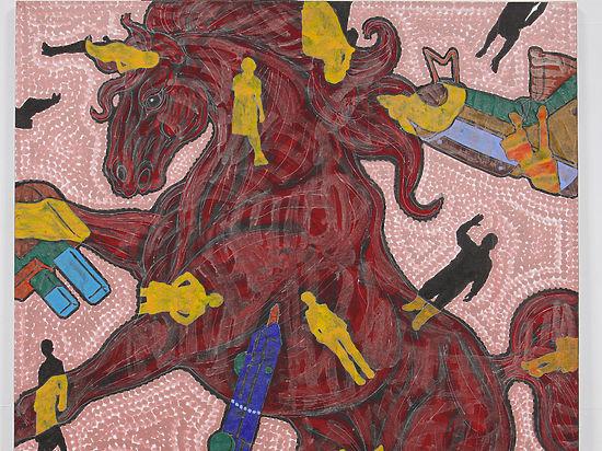 Лошади и цивилизация: в Москве открылась выставка корейского художника Хо Джина