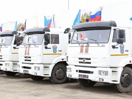 Гуманитарная колонна МЧС с тысячей тонн груза вошла на территорию Донбасса