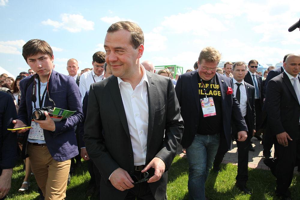 Премьер-министр Дмитрий Медведев посетил Сколково