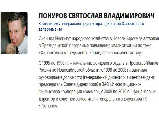 Бывший финдиректор РОСНАНО Понуров арестован судом