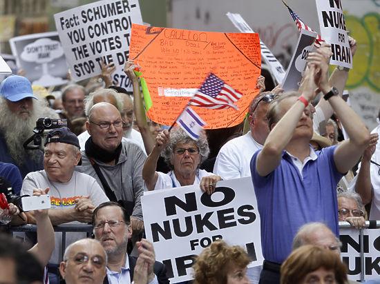 Протестующие в Нью-Йорке и конгрессмены-республиканцы угрожают иранской сделке