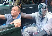 Одесского депутата люстрировали с помощью мусорного бака, муки и зеленки