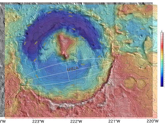 На Красной планете есть район со странным химическим составом поверхности