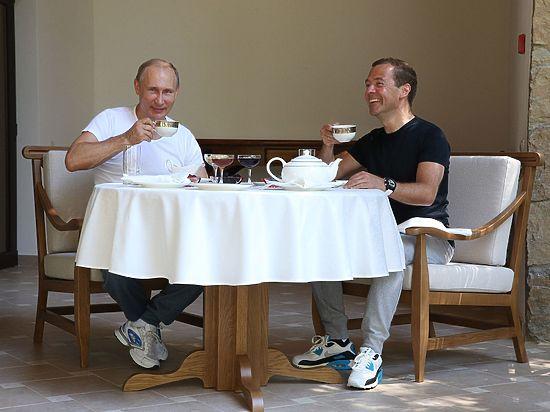 День у российских лидеров начался с тренировки