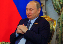 Путин погладил киску в Сибири