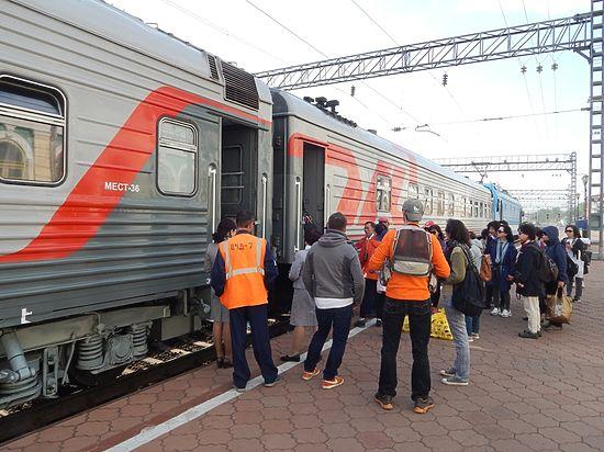 Из Иркутска отправился детский поезд