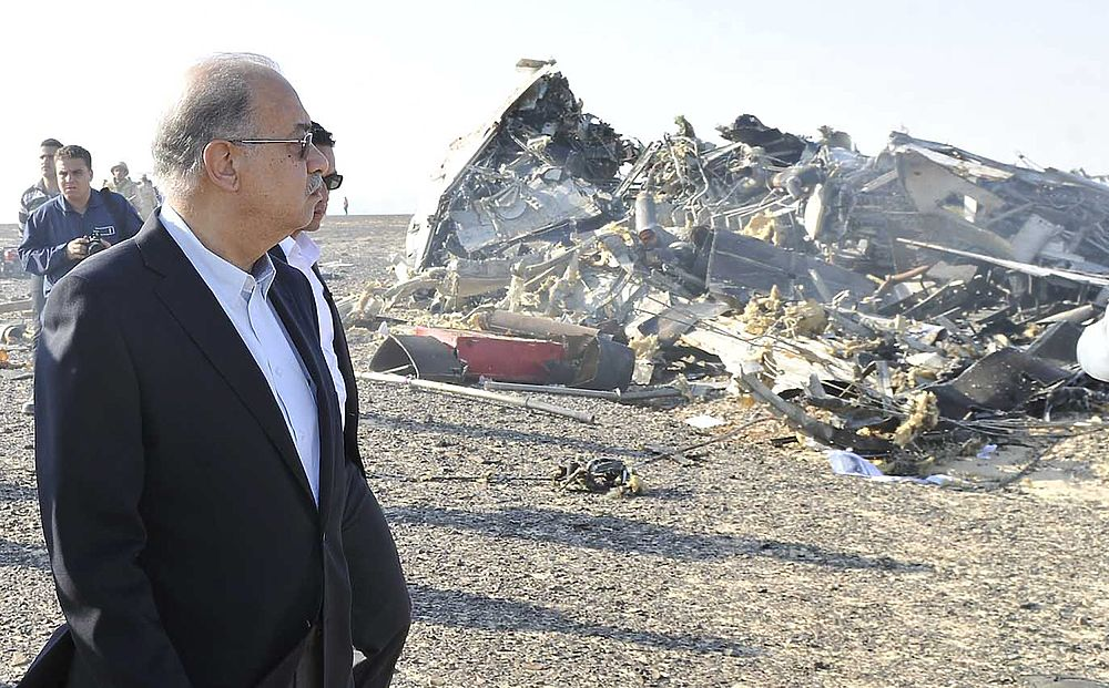 Крушение российского самолета А321 в Египте: кадры с места трагедии