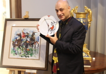 В пятницу на главной московской площадке Императорского фарфорового завода состоялась презентация совместной выставки ИФЗ и всемирно известного художника Миши Ленна