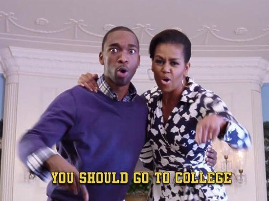 Мишель Обама записала рэп о пользе высшего образования
