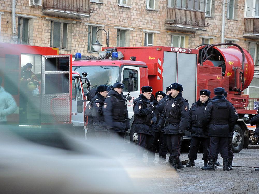 Пожар на Новослободской улице тушили 25 пожарных расчетов