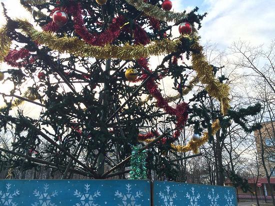 В бывшем военном городке его обитатели в шоке от трансформера, которым украсили на Новый год главную площадь