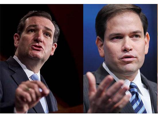 Тед Круз и Марко Рубио - схожие кандидаты с неодинаковыми шансами