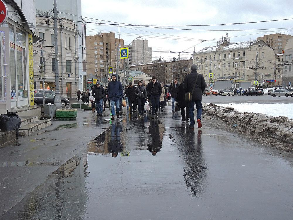 Москвичи стали жертвами внезапного потепления