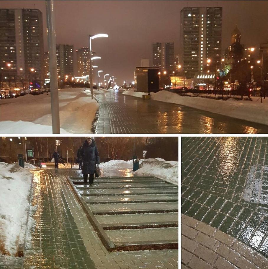 Январский дождь и гололед удивили москвичей, вмиг ставших неуклюжими