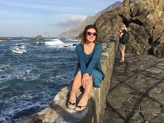 Актриса проводит каникулы в Испаниис