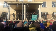 Митинг у перинатального центра в Хасавюрте