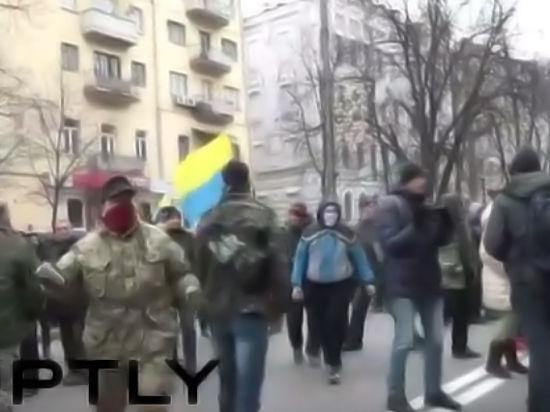 Годовщину Майдана «отметили» разгромом российских банков в Киеве