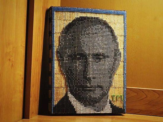 Школьник из Улан-Удэ сделал портрет Путина из 14800 спичек