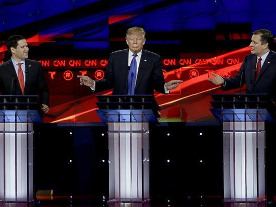 Трамп, Круз и Рубио: пристрелочные дебаты перед «супервторником»