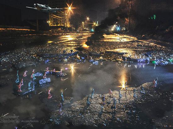 Поле битвы Самара: фотографы превратили дорожную яму в искусство