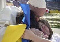 Украинцы записали Папу Римского в почитатели жовто-блакитного стяга