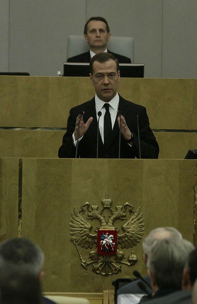 Медведев выступил с ежегодным отчетом перед Госдумой