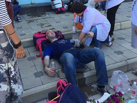 В результате был госпитализирован журналист «Дождя», всего пострадали 6 человек
