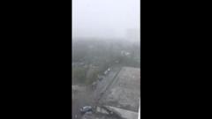 Снегопад обрушился на Сургут в первый день лета