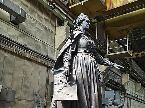 Статуя Екатерины II отлита и уже готова к отправке из Москвы в Симферополь