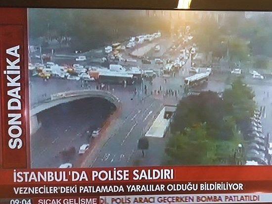 СМИ предполагают, что террористы пытались подорвать полицейский автобус