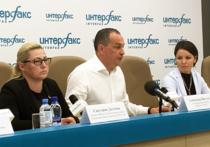 Глава Серпуховского района Александр Шестун и активисты ОНФ дали пресс-конференцию