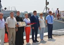 В день Военно-морского флота делегация из города Серпухова поздравила экипаж малого ракетного корабля «Серпухов» с праздником