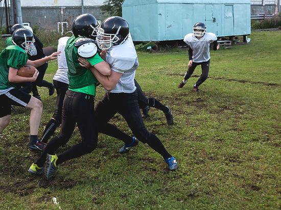 Целую неделю в Архангельске шли тренировки по по американскому футболу