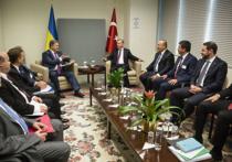 Президент Турции Реджеп Тайип Эрдоган пообещал Петру Порошенко поддержать территориальные претензии Украины на Крым