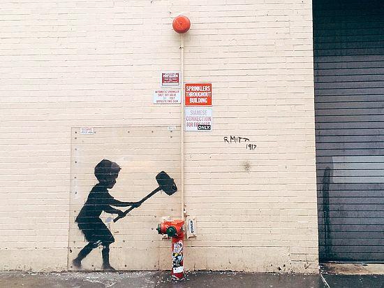 Неуловимого уличного художника Бэнкси поймали в Мельбурне