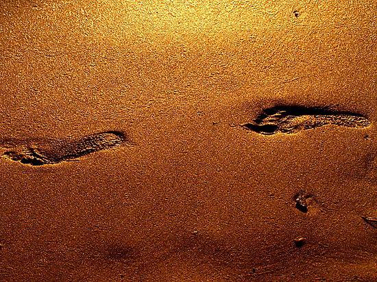 Отпечатки ног были оставлены много тысячелетий назад