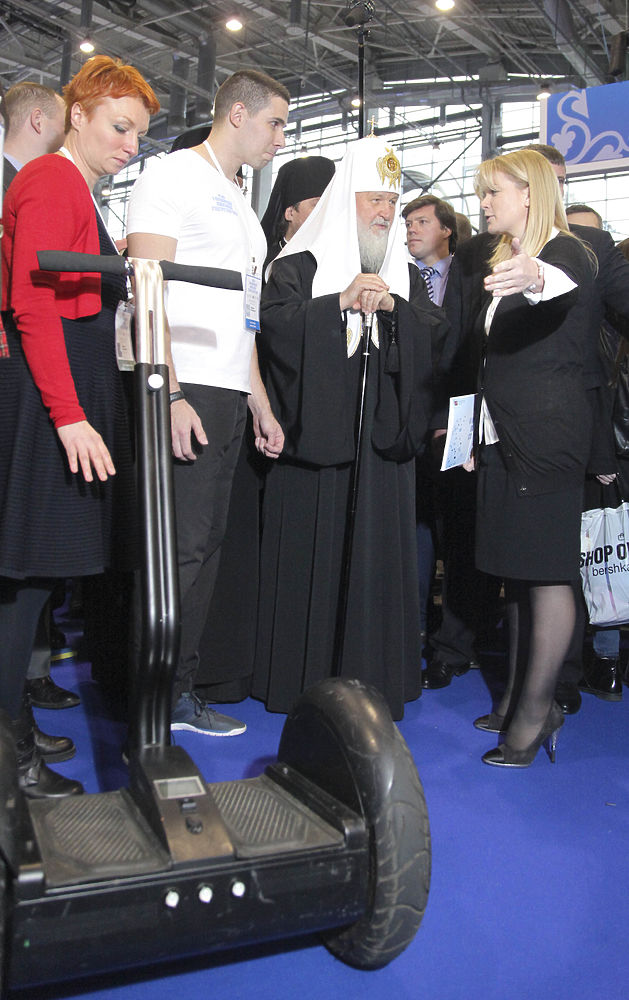 Патриарх Кирилл пообщался со студентами на форуме, посвященном высоким технологиям
