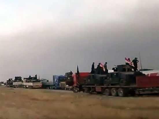 Появилось видео атаки боевика-смертника ИГ, протаранившего колонну иракской армии