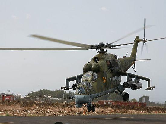 Минобороны сообщило о вынужденной посадке вертолета ВКС РФ в Сирии