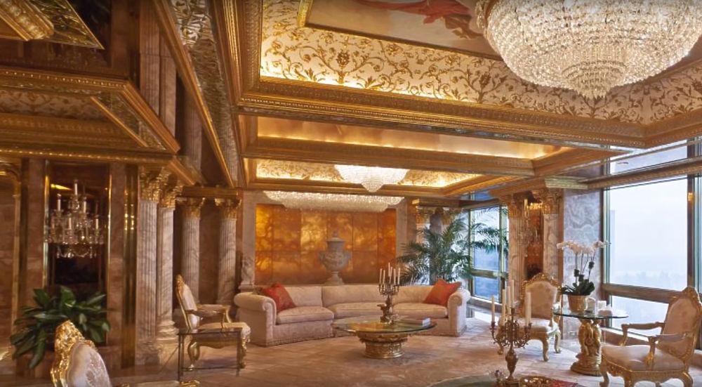 Золотая квартира Дональда Трампа: как живет новый президент США