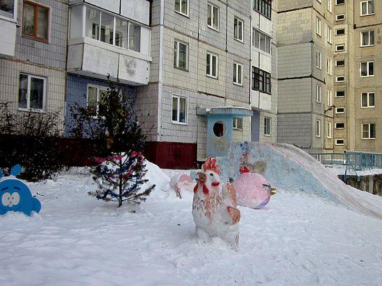 Кемеровская семья сделала Снежный городок с Angry Birds